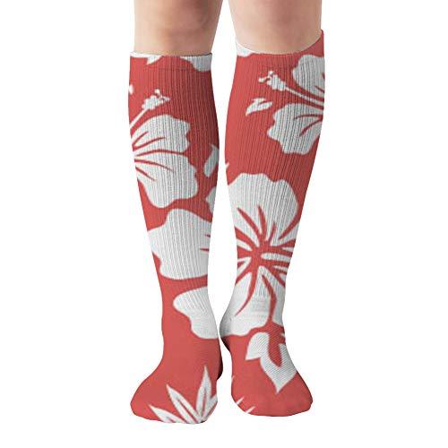 Hawaiian Aloha Shirt Beauty Fashion Compression Socks Women And Men,Best For Nurses,Travel,Pregnancy,19.68 Inch