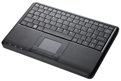 Perixx PERIBOARD-510 H Plus Super Mini Touchpad Tastatur USB mit 2-Fach USB Hub schwarz