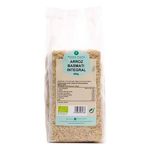Planeta Huerto   Arroz Basmati Integral Ecológico, 500 gr   Cereales - Alimentos Orgánicos, Biológicos de Altísimo Valor Nutricional Para Recetas de Cocina Saludable