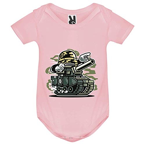LookMyKase Body bébé - War Tank - Bébé Fille - Rose - 3MOIS