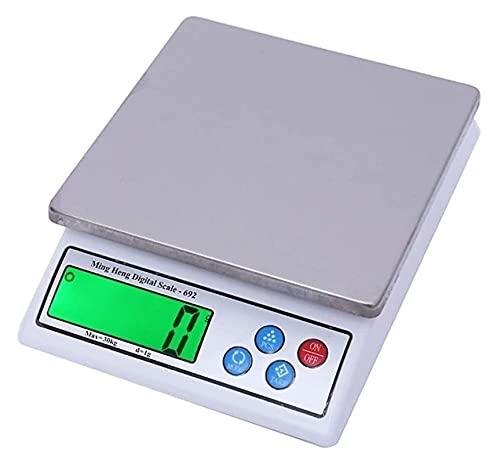 M3 Decorium Básculas electrónicas de Cocina 30kg 66lb Función de Tara LCD Retroiluminado Hogar Cocina Alimentos Pesaje Multifunción Precisa a 0.1G (Color : 6KG/0.1G)