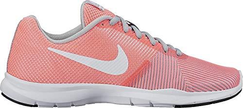 Nike Flex Bijoux, Scarpe Sportive Indoor Donna, Arancione-Bianco, 38 EU