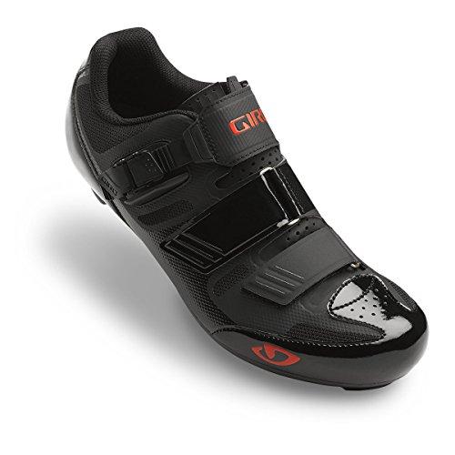 Giro Herren Radschuhe Apeckx II HV, Herren, Giro, Black/Bright Red, 40.5