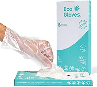 Eco Gloves Eco-Friendly Gloves Compostable Latex Free, Powder Free, BPA Free for Food, Safety, Cleaning, Pet Care | Dispen...