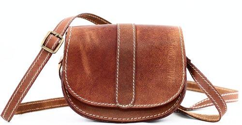 PAUL MARIUS Piccola borsa in pelle in stile vintage, colore marrone, Mon Mignon, marrone (marrone), XS