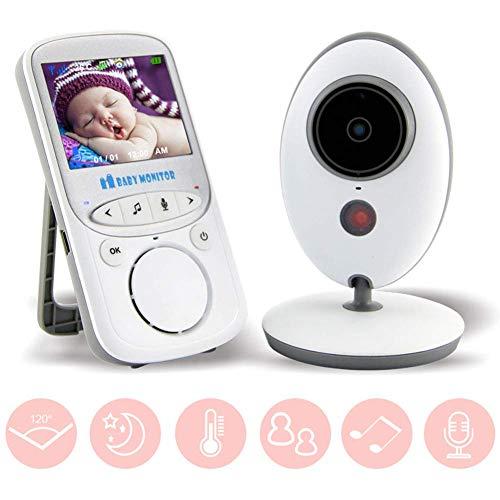 SWEET Moniteur pour Bébé avec Caméra Et Audio avec Vision Nocturne Infrarouge Automatique Et Fonction De Détection De La Température Distance De Transmission TFT 200M De 2.4 Pouces