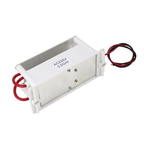 GWN Mini generador de ozono de 220 V, Placa de cerámica integrada, máquina de ozonizador de Aire, Blanco con película Azul de 3,5 g