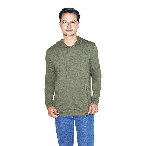 American Apparel Sudadera con capucha de manga larga Tri-Blend para hombre -  Verde -  Large