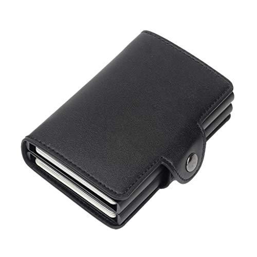JERKKY Frauen Männer RFID Business Kreditkarteninhaber Geld Brieftasche Clip Geldhalter Geldbörse Schwarz