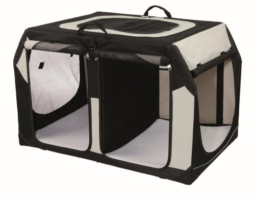 TRIXIE Hunde Autobox für 2 Hunde Vario Double, 91 × 60 × 61/57 cm