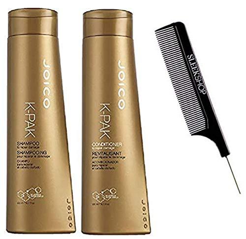 K-PAK Shampoo & Revitalisant Conditioner DUO SET to Repair Hair Damage (w/Sleek Comb) Kpak K-Pack Damaged Kit (10.1 ounce + 10.1 ounce - ORIGINAL DUO KIT)