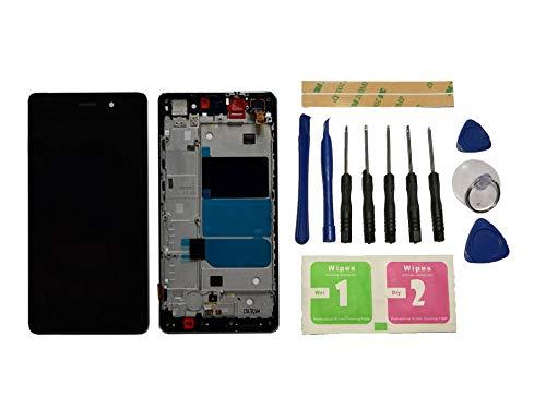 Flügel para Huawei P8 Lite ALE-L21(Not for Huawei P8 Lite 2017) Pantalla LCD Pantalla Negro Táctil digitalizador Completo Pantalla (con Marco) de Recambio & Herramientas