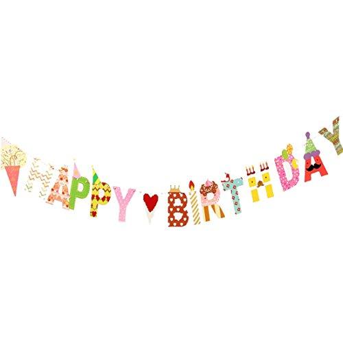 Demarkt Happy Birthday slinger vlag banner verjaardag decoraties Medium Zoals op de afbeelding B