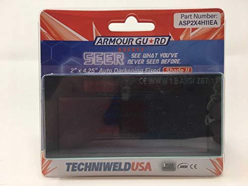 "Techniweld Seer Solar Auto Welding Lens Shades 9, 10,11, or 12 Shade 3 Off (SHADE 10), 2 X 4.25"""