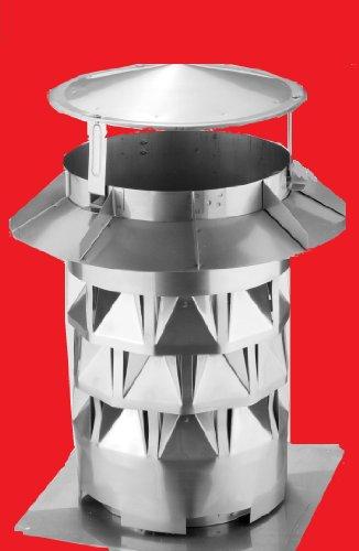 Windkat-Schornsteinaufsatz mit Grundplatte - Nennweite Ø 180 mm