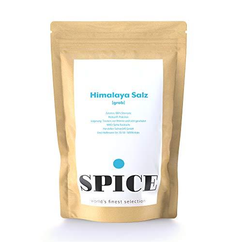 Himalaya Salz grob (1kg) - grobes Natursalz (Steinsalz) aus dem Himalaya-Gebirge (Punjab Pakistan), rosa Himalayasalz für die Salzmühle, grobe Salzkörner ohne Jod