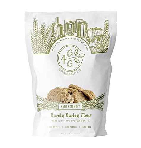 Grain4Grain Low Carb Flour, Spent Grain Keto Flour, High Protein, Diabetic Friendly, 1 Pack