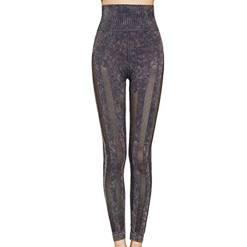 Jmsc Leggins Sportivi Donna Vita Alta Leggings con Tasche Push Up Fitness Allenamento Yoga Palestra Pantaloni L(6)