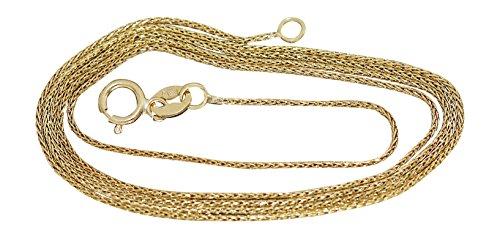 Hobra-Gold 50 cm feine Goldkette 333 - Zopfkette - geschmeidige Kette Gold - Halskette Seilkette