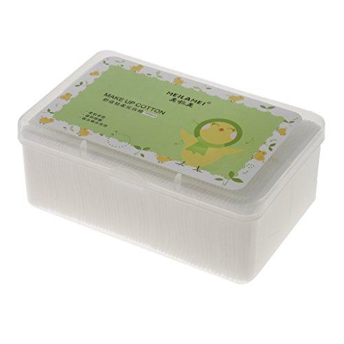 joyMerit 1000 Unids/Caja Almohadillas de Algodón para Maquillaje Almohadillas Suaves para Desmaquillar Papel de Limpieza Facial Almohadillas para Quitar Esma