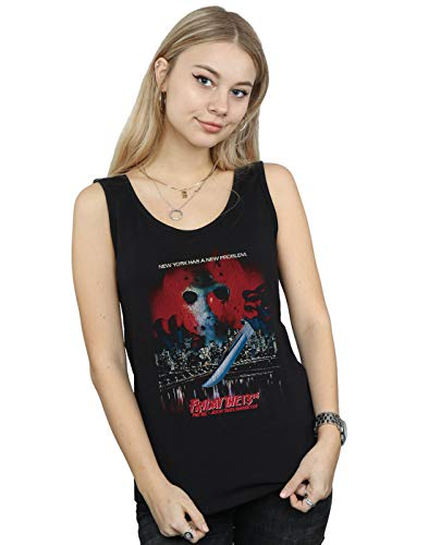 Friday The 13th Women's Jason Takes Manhattan Tank Top Black Small