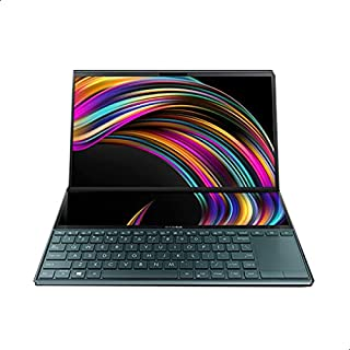 Asus UX481FL-BM039T Zenbook Duo 2 in 1 Laptop - 14-inch Full HD, Intel core i7-10510U, 1TB SDD, 16 GB RAM, NVIDIA GeForce ...
