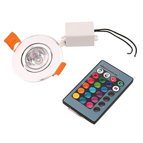 Inicio 3W RGB LED empotrable Lámpara de techo Foco Downlight Lámpara sin radiación UV o IR Fácil de instalar y operar nuevo hogar