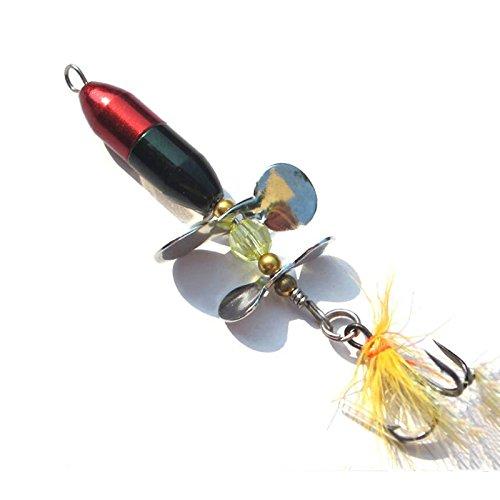 TOPSALE Long Casting Spinner Koeder Fischkoeder Double Tail Propeller Forelle Karpfen Wels Kuenstliche EIS Angelkoeder 10g