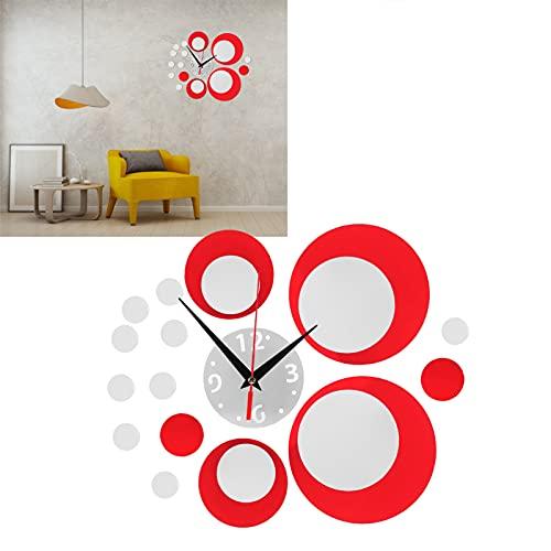 Hozee Reloj de Pared, Etiqueta de la Pared del Espejo Etiqueta del Reloj de Bricolaje Etiqueta engomada del Reloj del PVC Caja Fuerte para Decoraciones de Interior