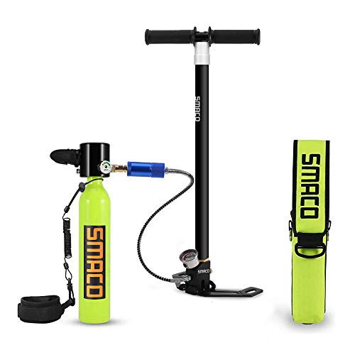 Qians Scuba Diving Tank Equipment,Mini Scuba Cylinder High Pressure Air Pump with 5-15 Minutes Scuba Tank Refill Adapter for Underwater Diving Breathe Training