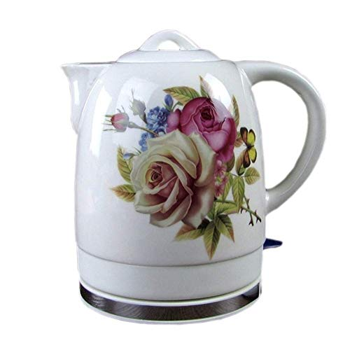 Bouilloires en céramique bouilloire électrique sans fil eau Teapot, Teapot-rétro 1.8L Jug rapide 8bayfa
