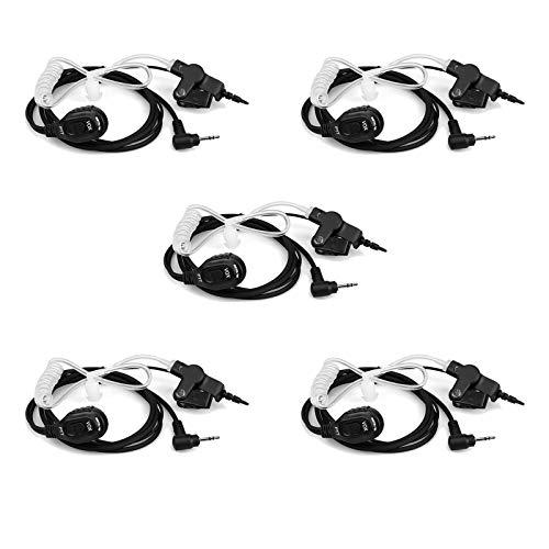 Retevis EA101M Walkie Talkie Auricular Pinganillo 1 Pin 2.5 mm Compatible con Motorola T82 T82 Extreme T62 T92 H2O T60 T61 T62 T80 Extreme T80ex T81 Hunter Retevis RT45 Walkie Talkies (5 Piezas)