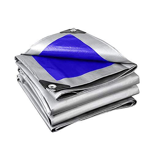 QYQPB Al Aire Libre Camión Lona, Lona Carpa, Azul De Plata De La Trenza, 0.34mm De Espesor, 165 G / M2, Varios Tamaños, Utilizado For Andamios Red de sombreado (Size : 2 * 10m)