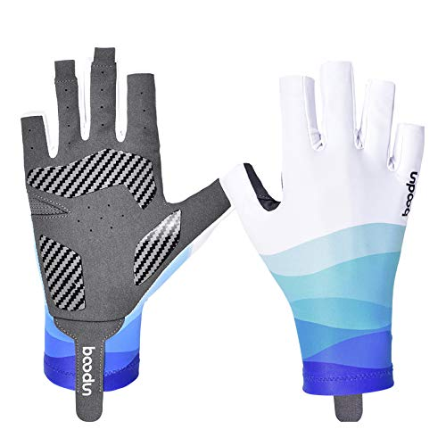 HKYMBM Fishing Gloves, Half-Finger Style, Microfiber-Tech Safeguard, Men Breathable Sports Gloves for Cycling Kayaking Driving Sailing Boating Photography,C,M