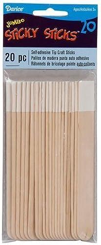 Bulk Buy  Darice DIY Crafts Jumbo Sticky Sticks Craft Sticks 20 pieces (3-Pack) SS0011J by Darice Bulk Buy