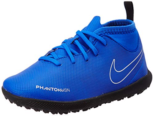 Nike Jr. Phantom Vision Club Dynamic Fit Turf, Zapatillas de Fútbol Unisex Niños, Azul (Racer Blue/Black-Metallic Silv 400), 27 EU