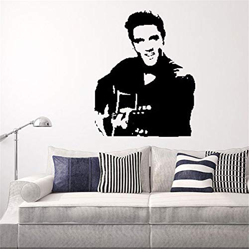 wandaufkleber feder Elvis Presley Rock Gitarre Legende Poster Home Decoration Aufkleber