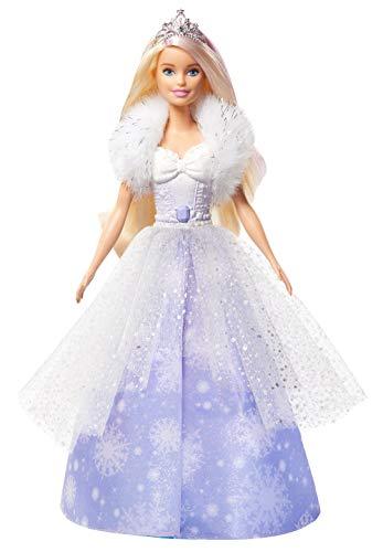 Barbie GKH26 - Dreamtopia Schneezauber Prinzessin Puppe mit Haarbürste und Diadem, Spielzeug ab 3 Jahren