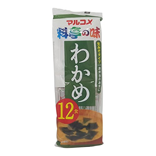 Marukome Instant Miso Soup Paste Sachets With Wakame 12x18g