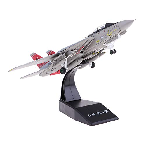Homyl 1:100 Metall Militär Flugzeug Militärflugzeug Modell Flugzeugmodell Ornament Geschenk - F14