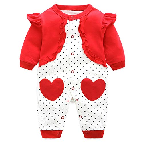 Baby Baumwolle Strampler Overall Jungen MäDchen Langarm Outfits Neugeborenes Karikatur Drucken Jumpsuit 0-3 Monate