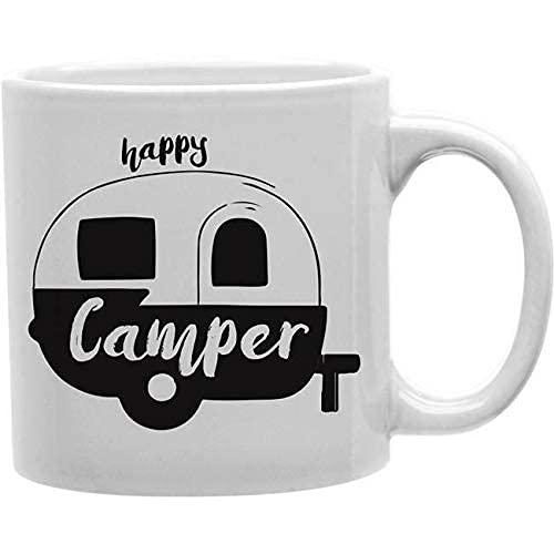 Taza de café Imaginarium Goods Camper Negro Camper Happy Camper Taza Novedad Tazas 11 oz