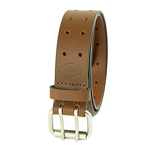 Dickies Men's Leather Double Prong Belt, tan, 40 (Waist: 38)