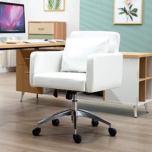 N&O Renovation House Chairs Fashion Sofa Bürostühle Drehbare Computer-Schreibtischstühle aus Leder Langlebig und stabil höhenverstellbar Blau