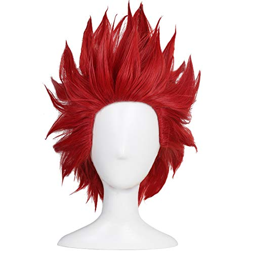 ColorGround Short Red Anime Cosplay Wig