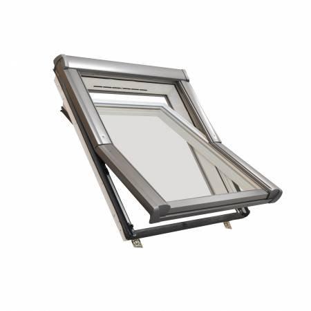 Dachdecker Favorit Roto Dachfenster aus Kunststoff mit Eindeckrahmen (114 x 140)