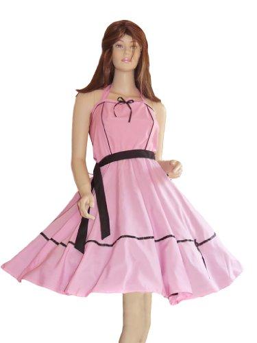 Seruna Kleid Kleider für Petticoat Petticoats Pettycoat 50er 60er schwarz rosa Gr. S und M K09