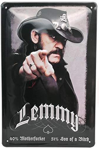 Lemmy - gewölbtes & geprägtes Blechschild in 30 x 20 cm (stabile Stahlblech Ausführung)