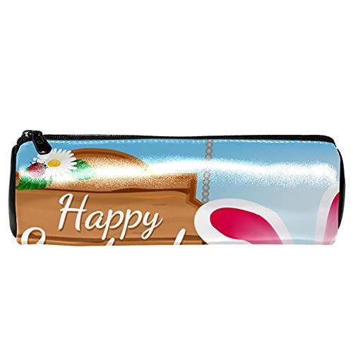 Estuche para lápices de piel con diseño de margaritas y flores, para estudiantes, para oficina, etc