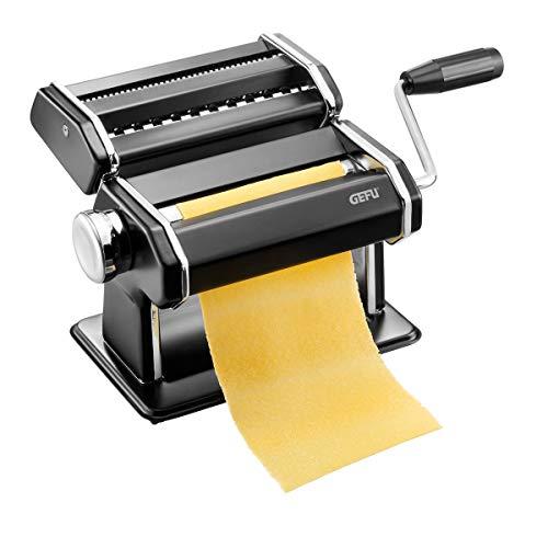 GEFU 89426 Pastamaschine Pasta PERFETTA schwarz matt, italienische Nudelmaschine für Lasagne, Tagliolini und Tagliatelle
